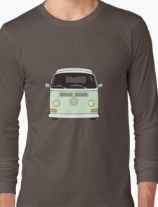Early Bay VW Camper Front Pale Green Long Sleeve T-Shirt
