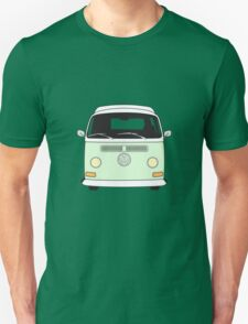 Early Bay VW Camper Front Pale Green Unisex T-Shirt