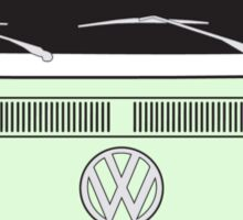 Early Bay VW Camper Front Pale Green Sticker