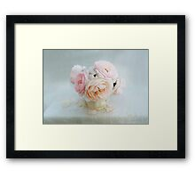 Bouquet of Pastel June Roses Framed Print