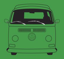 Early Bay VW Camper Line Art Kids Clothes