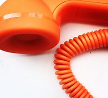 Orange Telephone by Lucy Wright