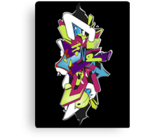 Wildstyle Graffiti Digital Sketch Canvas Print