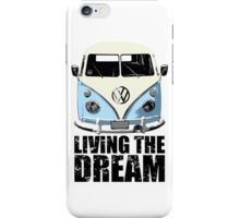 VW Camper Living The Dream Pale Blue iPhone Case/Skin