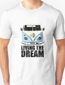 VW Camper Living The Dream Pale Blue Unisex T-Shirt