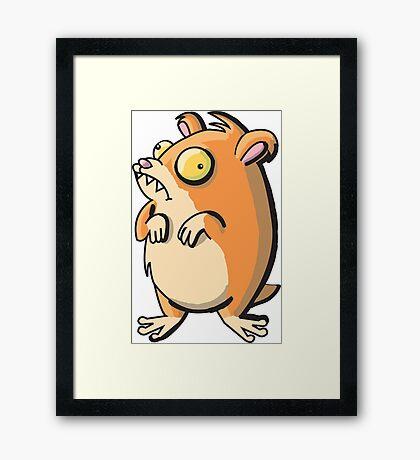 Caffeinated Hamster Framed Print