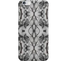 More black and white leaf patterns iPhone Case/Skin