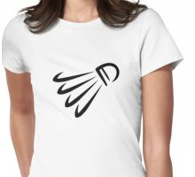 Badminton shuttlecock Womens Fitted T-Shirt