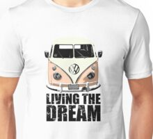 VW Camper Living The Dream Apricot Unisex T-Shirt