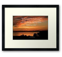 Psalms 19:1-2 Framed Print