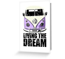 VW Camper Living The Dream Lilac Greeting Card