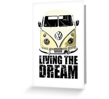VW Camper Living The Dream Lemon Greeting Card