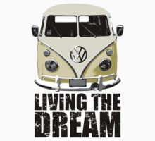 VW Camper Living The Dream Lemon Kids Clothes