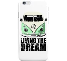 VW Camper Living The Dream Green iPhone Case/Skin
