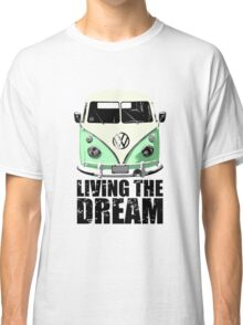 VW Camper Living The Dream Green Classic T-Shirt