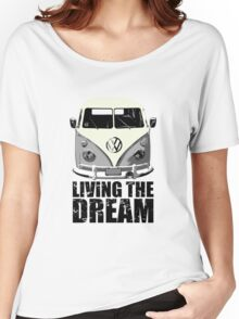 VW Camper Living The Dream Grey Women's Relaxed Fit T-Shirt