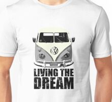 VW Camper Living The Dream Grey Unisex T-Shirt