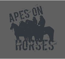 Apes on Tee-horses Photographic Print