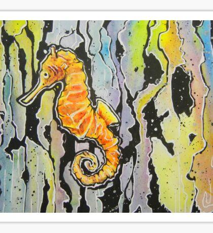 Rainbow Seahorse Sticker
