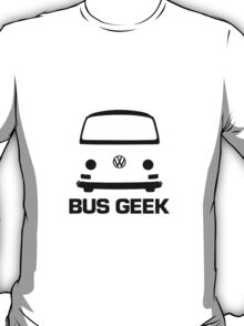 VW Camper Bay Bus Geek Black T-Shirt