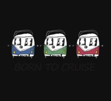 Born To Cruise VW Camper Kids Tee