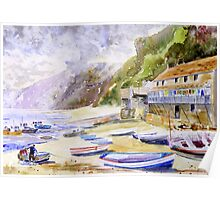 Clovelly Harbour, Devon Poster