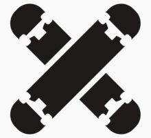 Crossed skateboards by Designzz