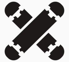 Crossed skateboards Kids Clothes