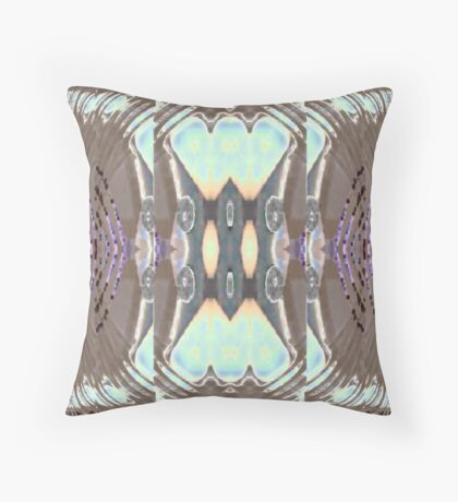Bow Blue  Throw Pillow