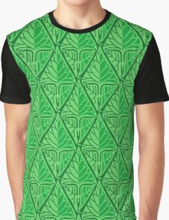 Fancy Green Tropical Leaves Graphic T-Shirt