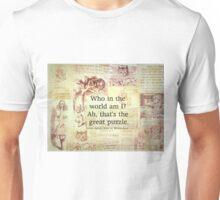 Alice in Wonderland Quote Unisex T-Shirt