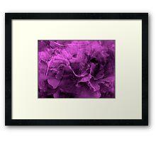 Purple Emotions - JUSTART © Framed Print