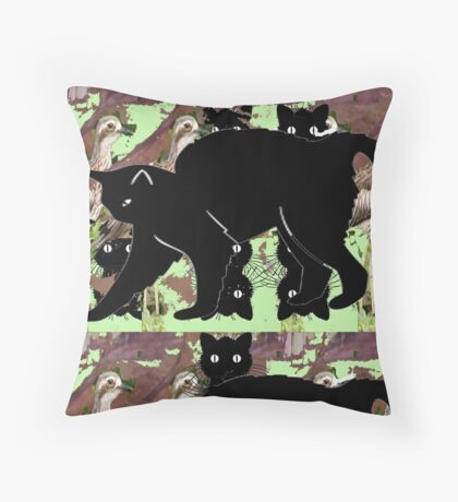 Prey of Cats And Wildlife  Throw Pillow