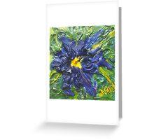 Blaue Blume (acrylic) Greeting Card