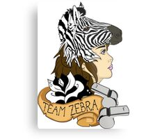 Team Zebra Metal Print