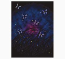 Butterflies at Night One Piece - Short Sleeve