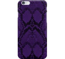 Deep Purple and Black Python Snake Skin Reptile Scales iPhone Case/Skin