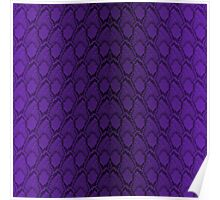 Deep Purple and Black Python Snake Skin Reptile Scales Poster