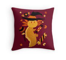 Halloween Candy Axolotl Throw Pillow