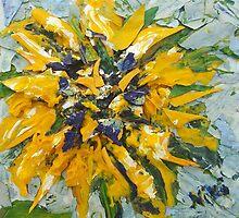 Sonnenblume (acrylic) by Niki Hilsabeck