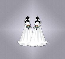 Mrs & Mrs Rainbow Brides by LiveLoudGraphic