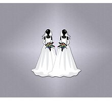Mrs & Mrs Rainbow Brides Photographic Print