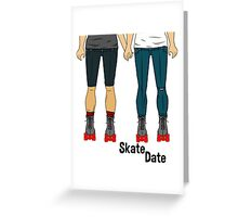 Skate Date - Male + Male Greeting Card