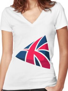 British Women's Fitted V-Neck T-Shirt