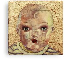 """""""Nothing to Fix"""" (antique boy doll) Canvas Print"""