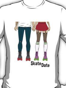 Skate Date - Female + Male T-Shirt