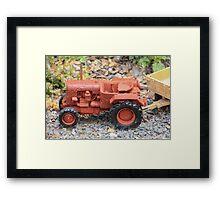 Toy Farm Tractor Framed Print