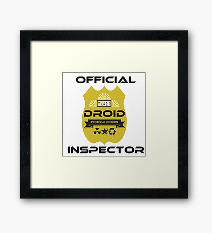 Official Droid Inspector Framed Print