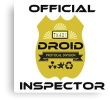 Official Droid Inspector Canvas Print