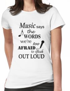 Music Quotes Womens Fitted T-Shirt